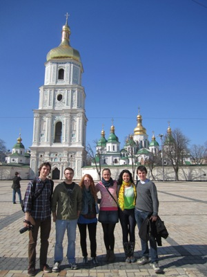 EESA Students in Kyiv, Ukraine